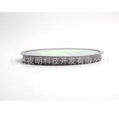 钢化玻璃夜光导流标志 不锈钢圈夜光标牌地贴 长余辉自发光地标