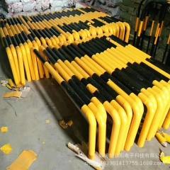停车场车位挡车器防撞柱 M型钢管挡车器停车定位器 龙门U型挡车器