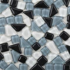 DIY创意儿童手工装饰厂家直销水晶自由石玻璃画背景墙 马赛克散粒