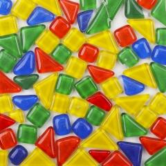 DIY儿童彩色玻璃小石头马赛克水晶自由石成人手工制作散粒拼贴