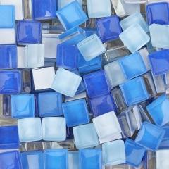 1CM混色DIY迷你水晶马赛克玻璃早教儿童散粒小玻璃贴彩色手工创意