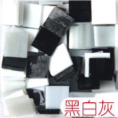 1.5厘米混色透光云母玻璃,DIY马赛克手工材料马赛克彩色透明玻璃
