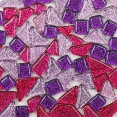 闪粉水晶自由石,不规则马赛克DIY手工暑期儿童培训材料