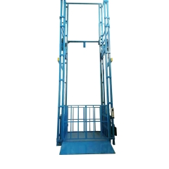 导轨式升降机 液压导轨升降货梯 工厂二层、三层货物升降平台