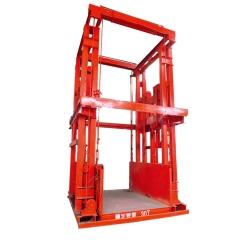 液压导轨式升降机 链条导轨式升降平台 厂家直销液压货物升降机
