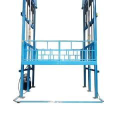 导轨式升降平台 户外3吨液压升降货梯 3层液压升降平台