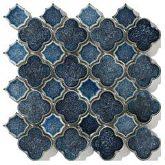 北京马赛克瓷砖高档蓝色手工砖冰裂纹高档背景墙窑变艺术墙砖拼图