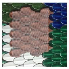 手工羽毛瓷砖 网红砖个性马赛克 孔雀墨绿色手工砖背景墙定制