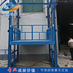 定制导轨式升降货梯 小型家用提升机  固定液压升降货梯 升降平台