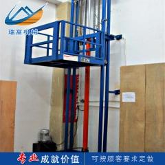 导轨链条升降货梯导轨式液压电梯仓库厂房电动货梯室外升降货梯