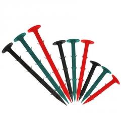 绿色塑料地钉防草布除草布地钉园艺地布钉果园防草地布韧性强