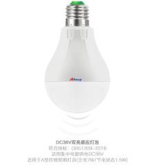 DC36V人体感应LED灯具 雷达感应楼梯口球泡灯 A型应急安全照明