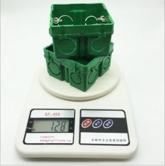86型加高加厚自扣暗装单联接线盒 PVC绿色塑料底盒 开关暗盒 8629 86×86×51