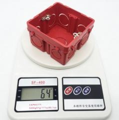 厂家直销 接线盒、塑料拼装接线盒、暗装底盒、开关底盒86 86*86*51