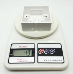 厂家直销 86型单联明装接线盒 单位PVC阻燃底盒 开关插座配件8610 600个/件