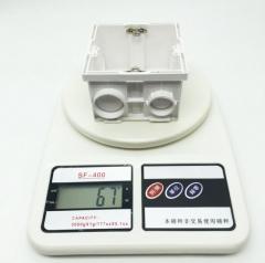 86型管扣式多联暗装接线盒 自扣组合暗式PVC阻燃塑料盒 8628 86×86×50