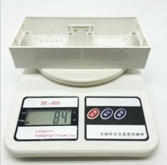 86型双联暗装接线盒 白色PP塑料底盒 双位开关插座暗盒 8620白 172×86×48