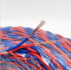 铜RVS电线 红黄红蓝纯白花线电线双绞线 自产自销家用 80 蓝红双色