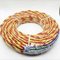 厂家批发电线电缆RVS2x1.5平方胶质线 双色花线 麻花线 2芯灯头线 90米 红黄